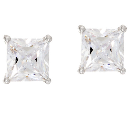 Diamonique 2.00 cttw Stud Earrings, Sterling