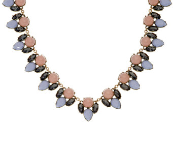 LOGO Links by Lori Goldstein Cabochon and Teardrop Collar Necklace - J326993