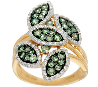 Marquise Shaped Pave' Alexandrite & Diamond Ring 14K, 0.80 cttw - J328293