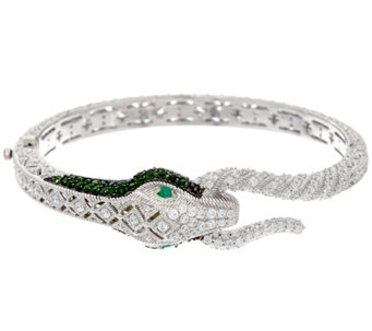 Judith Ripka Sterling Diamonique & Gemstone Snake Bracelet - J328693