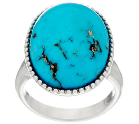 Bold Kingman Turquoise Sterling Silver Ring