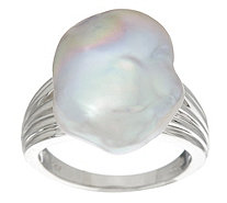 Honora Cultured Pearl 13.0mm Baroque Sterling Ring - J329993