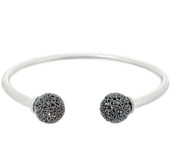 Sterling Silver Lace Bead Cuff by Or Paz 10.5g - J330293
