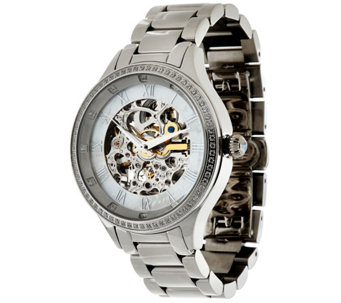 """As Is"" Stainless Steel Round Case Bracelet Watch - J335293"