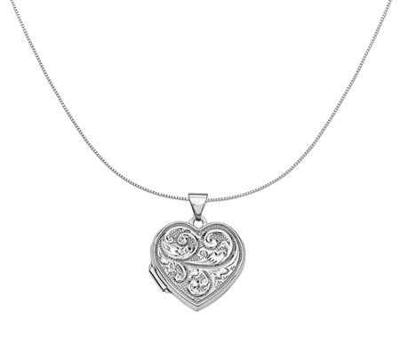 "18"" Scroll ""Love You Always"" Heart Locket Neckl ace, 14K Gold"