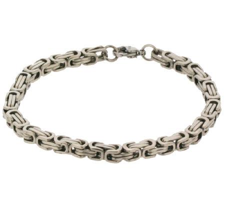 stainless steel men 39 s byzantine boxed bracelet