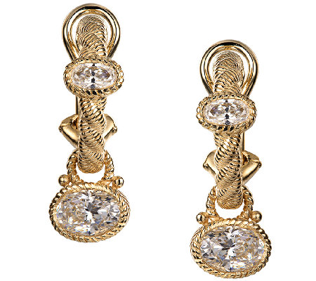Judith Ripka Sterling/14K Clad 2.80cttw Diamonique Earrings