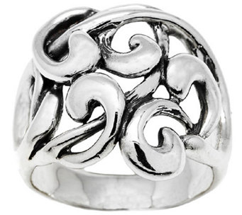 Hagit Sterling Silver Openwork Ribbon Ring - J339193