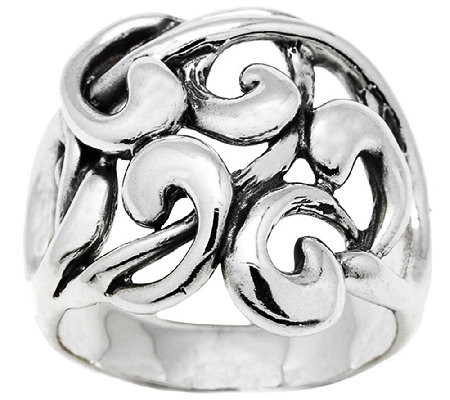 Hagit Sterling Silver Openwork Ribbon Ring