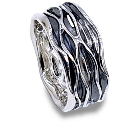 Hagit Sterling Silver Textured Band Ring