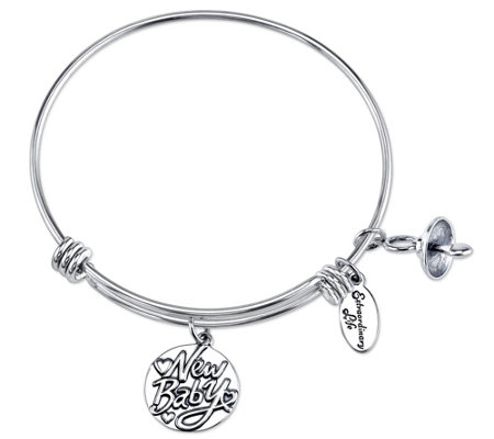 Extraordinary Life Sterling New Baby, BigSibling Bangle