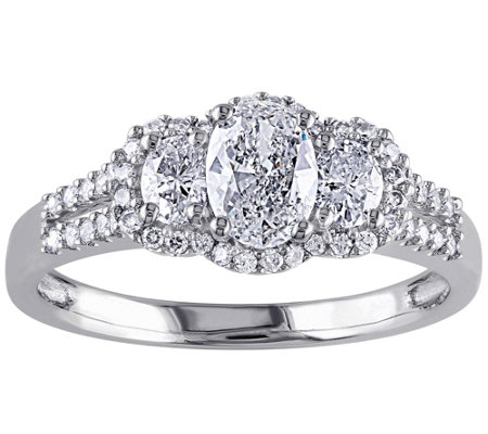 Oval & Round Diamond Ring, 9/10 cttw, 14K Gol dby Affinity