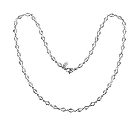 "Scott Kay Sterling Bolo Link 24"" Necklace"