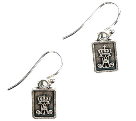 My Saint My Hero Scapular Drop Earrings