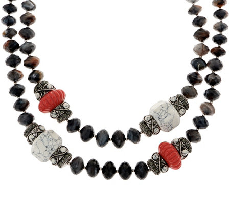 Joan rivers the favorite 19 beaded necklace w 3 for Joan rivers jewelry necklaces