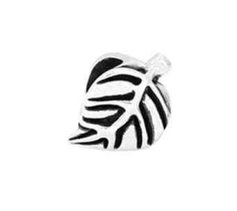 Prerogatives Sterling Leaf Design Bead - J108594