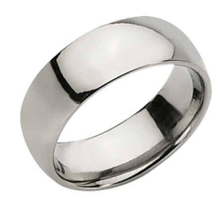 Titanium 8mm Polished Ring - Unisex