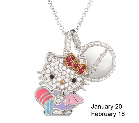 "Hello Kitty Diamonique Sterling ""Year of Hello Zodiac Pendant"