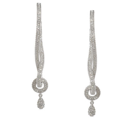 Nadri Pave' Style Infinity Design Earrings