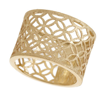 EternaGold Diamond Cut Open Work Band Ring 14K Gold Page 1