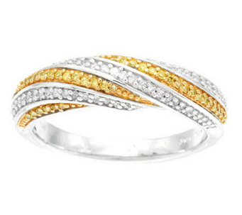 Color & White Band Diamond Ring, Sterling 1/4 cttw by Affinity - J282594