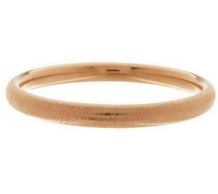 """As Is"" Oro Nuovo Average Round Textured Bangle, 14K Gold"