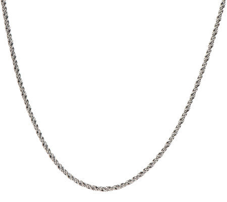 "JAI Sterling 16"" Medium Chain Necklace"
