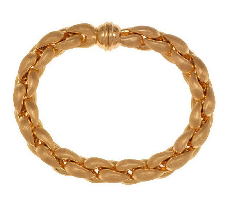 """As Is"" Bronzo Italia Average Puffed Satin Teardrop Link Bracelet"