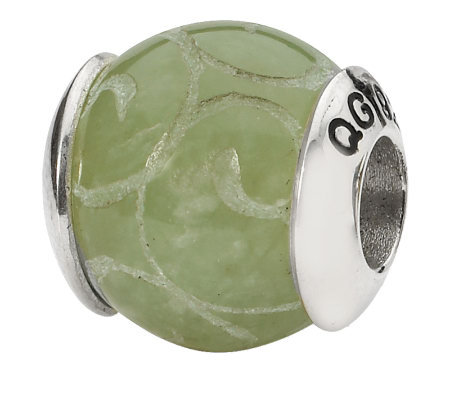 Prerogatives Sterling Jade Gemstone Bead
