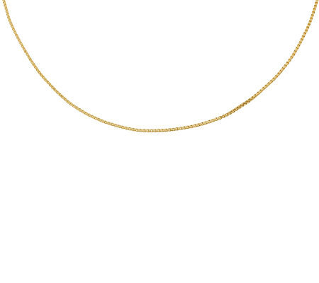 "16"" Polished Box Chain,14K Gold 2.3g"