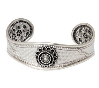 "Novica Artisan Crafted Sterling ""Blossoming Beauty"" Cuff - J308194"