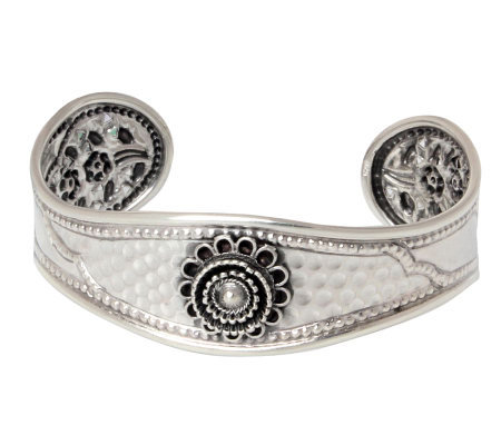 "Novica Artisan Crafted Sterling ""Blossoming Beauty"" Cuff"