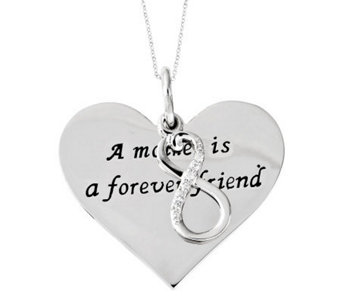 "Sentimental Expressions Sterling 18"" Forever Friend Necklace - J310594"