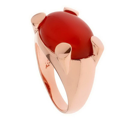 Bronzo Italia Bold Oval Gemstone Ring
