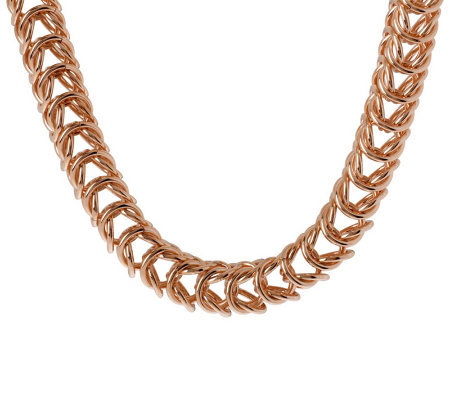 "Bronzo Italia 20"" Bold Polished Open Status Link Necklace"
