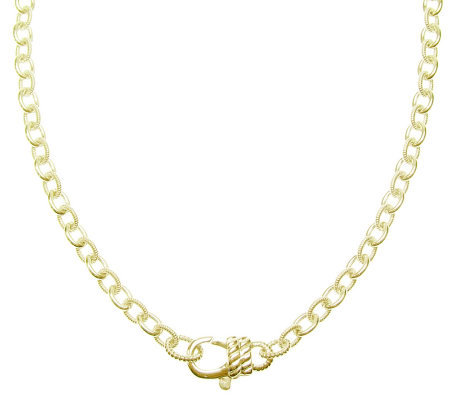 "Judith Ripka Madison 16"" Chain Necklace, Sterling 14K Clad"