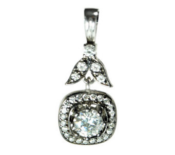 Diamonique 2.30 ct tw Sterling Square-Shaped Peendant - J315094