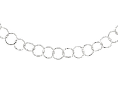 "Sterling 18"" Polished Round Link Necklace"