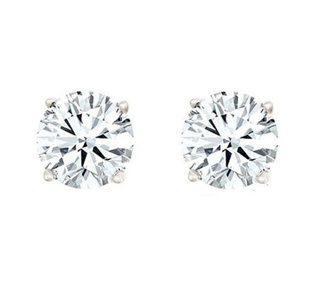 Round Diamond Stud Earrings, 14K, 1/2cttw by Af finity