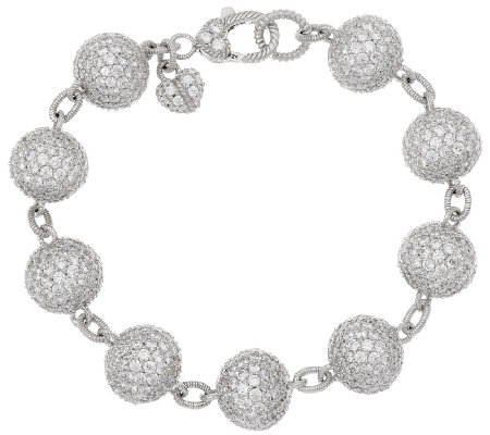 Judith Ripka Sterling 24.05 ct tw Diamonique Pave' Bracelet