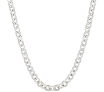 "UltraFine Silver 18"" Bold Polished Rolo Link Necklace, 34.5g - J317194"