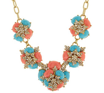 "Joan Rivers Jeweled Cabochon 18"" Statement Necklace - J318394"