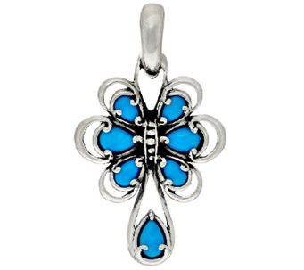 Carolyn Pollack Sleeping Beauty Turquoise Sterling Enhancer - J319494