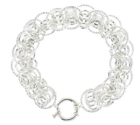 """As Is"" Sterling 7-1/4"" Status Circle Link Bracelet, 13.8g"