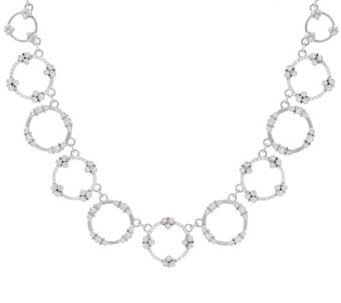 "Judith Ripka Sterling 4.90 cttw Garland Diamonique 18"" Necklace - J327394"