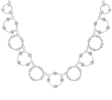 "Judith Ripka Sterling 4.90 cttw Garland Diamonique 18"" Necklace"