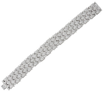 "Vicenza Silver Sterling 8"" Textured Woven Bracelet, 57.6g - J329394"