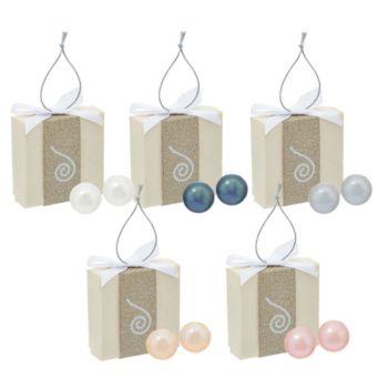 Honora Cultured Pearl Set of 5 8.0mm Boxed Stainless Steel Stud Earrings