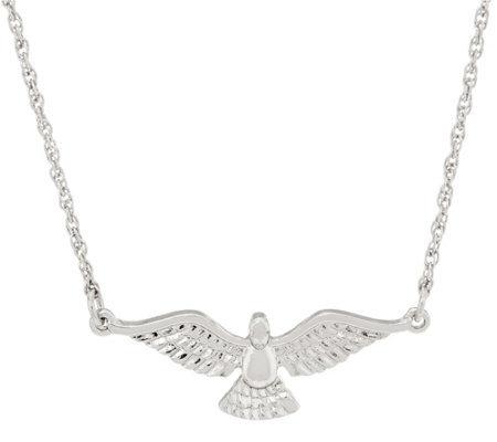 My Saint My Hero Holy Spirit Angel Wing Necklace