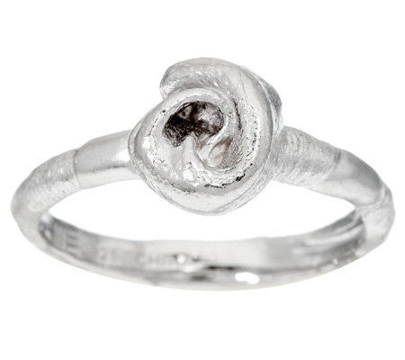 """As Is"" Mary Esses Petite Sterling Knot Ring"